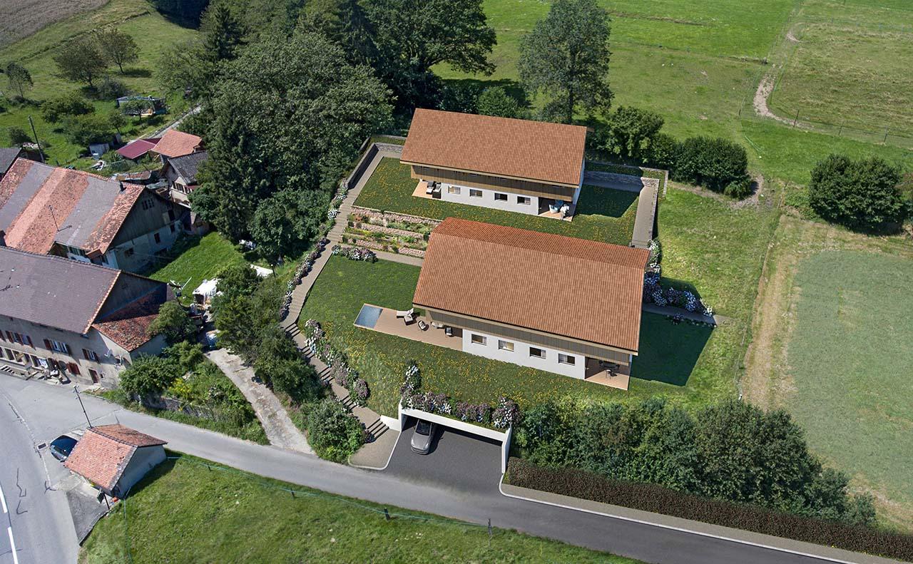 À vendre une villa mitoyenne spacieuse à Prévondavaux